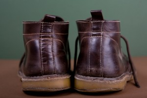 Old brown boots